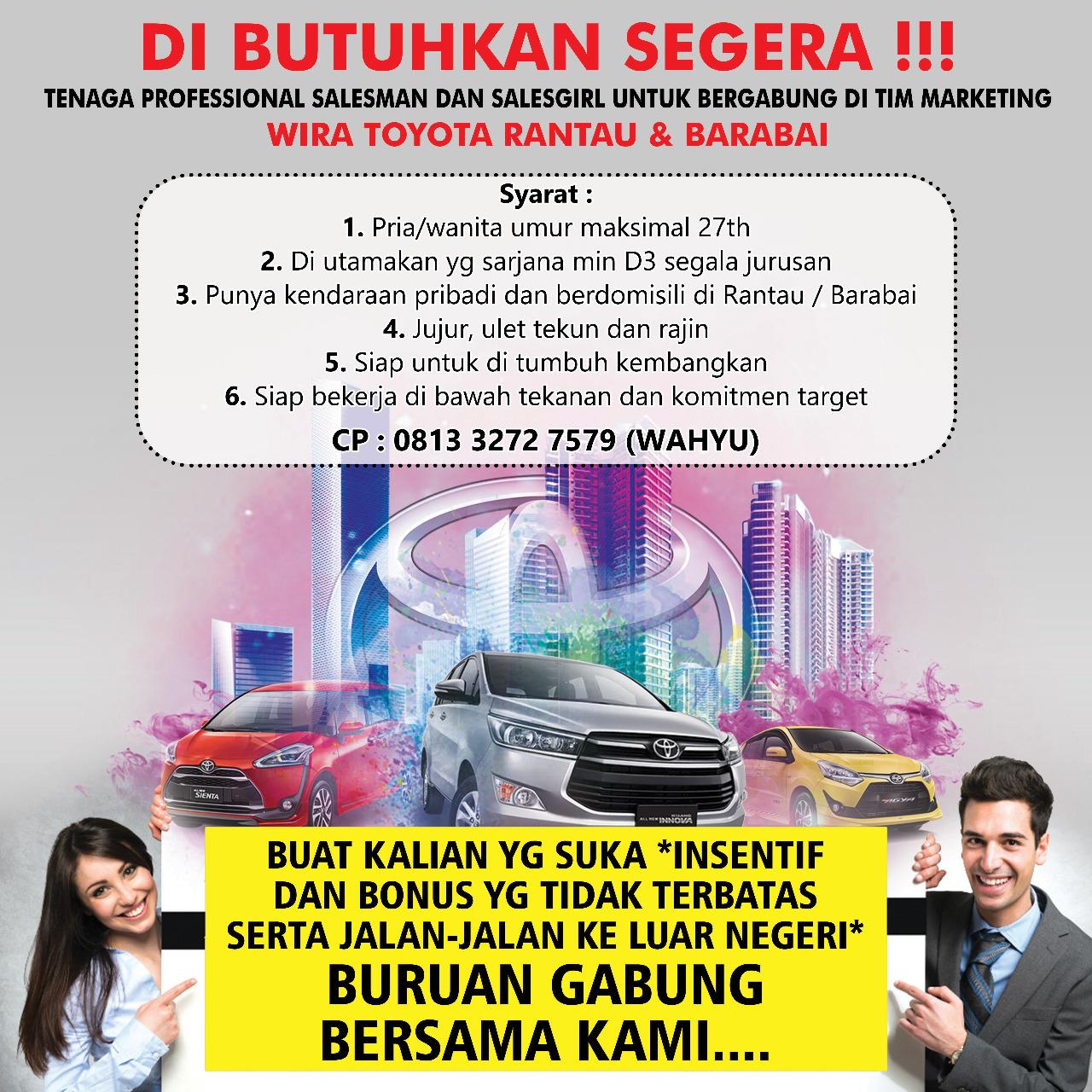 lowongan Toyota Rantau & Barabai